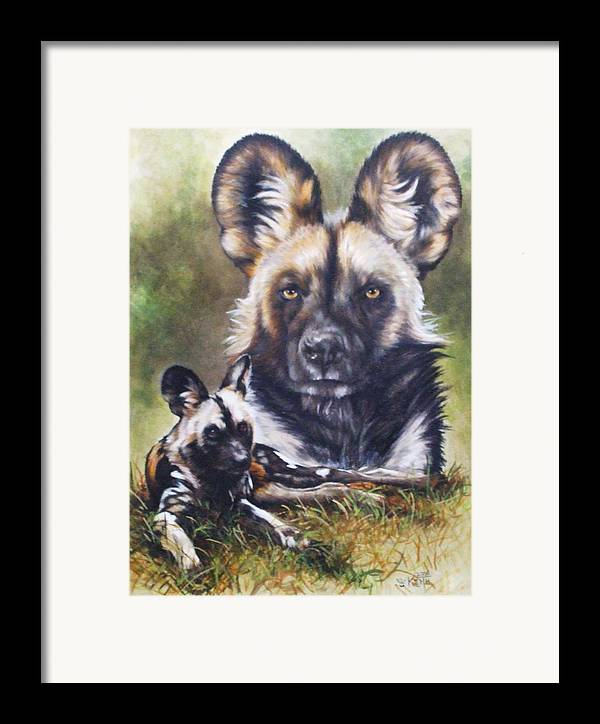 Wild Dogs Framed Print featuring the mixed media Scoundrel by Barbara Keith