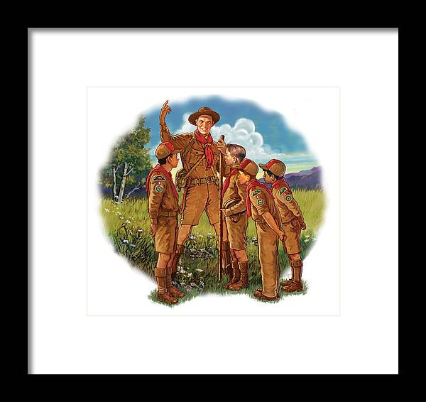 Retro Framed Print featuring the mixed media Scoutmaster by Lash Larue