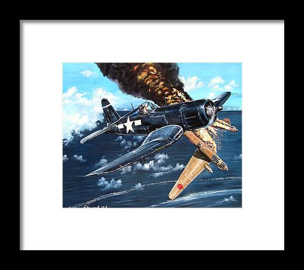 Military Framed Print featuring the painting Scratch One Betty by Marc Stewart