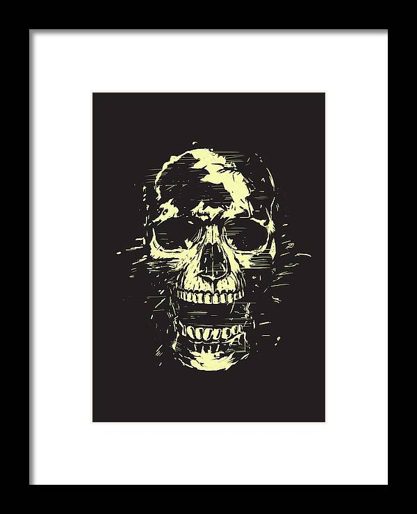 Skull Framed Print featuring the mixed media Scream by Balazs Solti