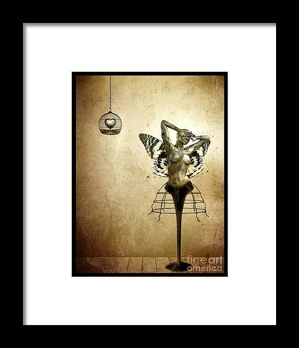 Digital Framed Print featuring the painting Scream Of A Butterfly by Jacky Gerritsen