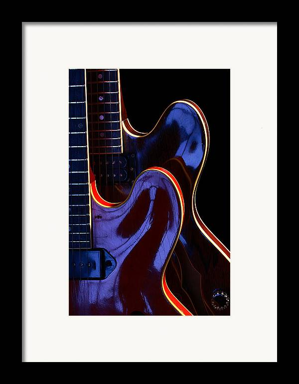 Guitar Framed Print featuring the photograph Screaming Guitars by Art Ferrier