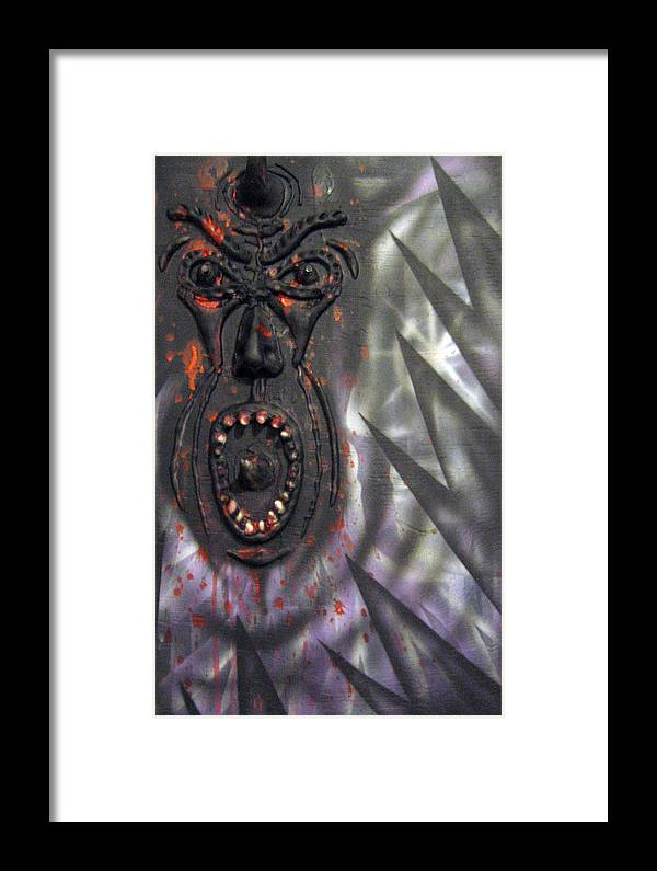 Relief Framed Print featuring the painting Screaming by Leigh Odom