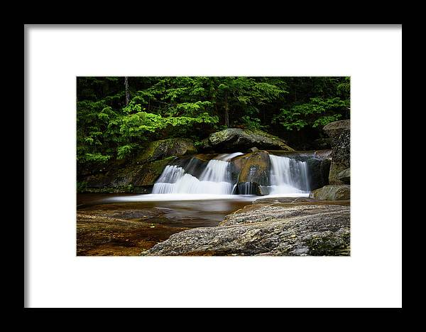 Grafton Notch Framed Print featuring the photograph Screw Auger Falls Upper 2 by Alan Brown