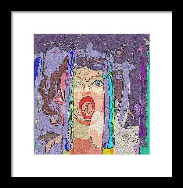 Credit Framed Print featuring the mixed media Screwed By Credit by Jennifer Ott