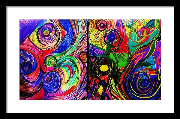 Art Framed Print featuring the painting Scribble by HollyWood Creation By linda zanini