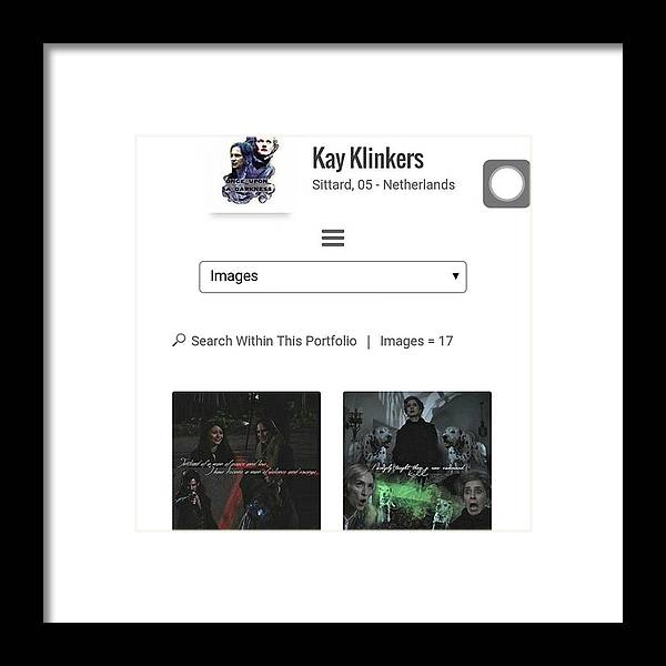 666666 Framed Print featuring the photograph <script Type='text/javascript' by Kay Klinkers