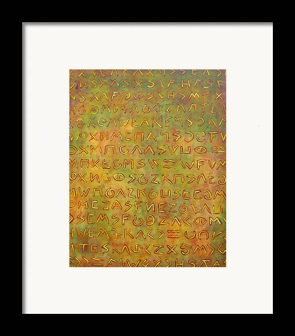 Symbolic Framed Print featuring the painting Scripture by Hiske Tas Bain