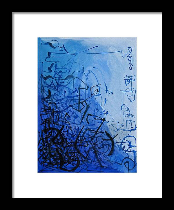 Abstract Framed Print featuring the painting Scroll by David McKee