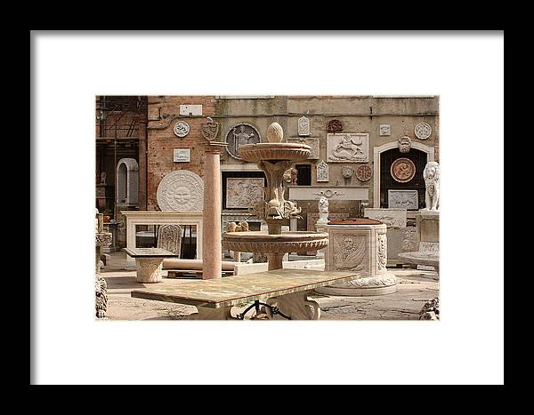 Venice Framed Print featuring the photograph Sculpture Garden In Venice by Michael Henderson