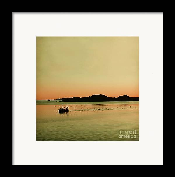 Dreamy Framed Print featuring the photograph Sea After Sunset by Sonya Kanelstrand