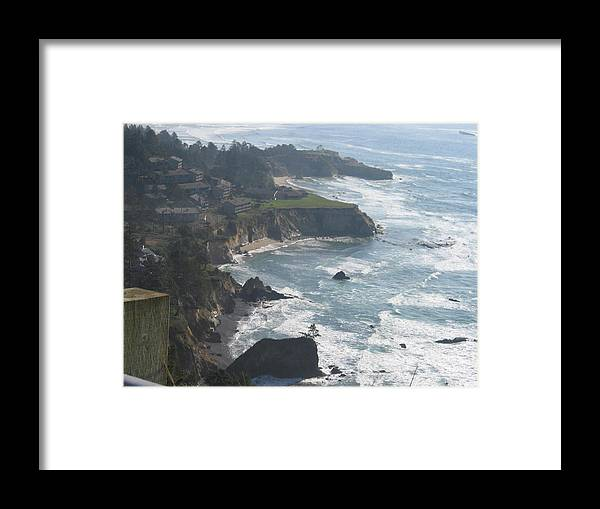 Framed Print featuring the digital art Sea Air by Barb Morton