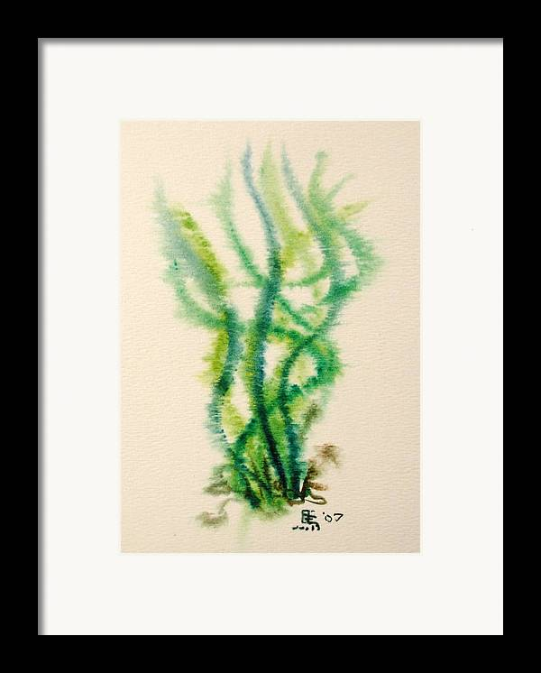 Sea Framed Print featuring the painting Sea Bed One by Dave Martsolf