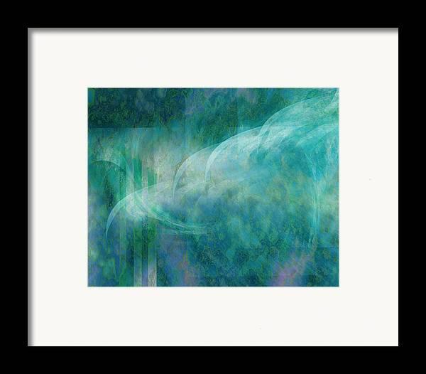 Sea Framed Print featuring the digital art Sea Breeze by Gae Helton