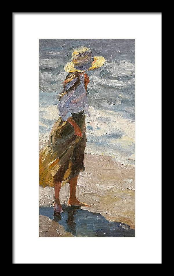 Beach Framed Print featuring the painting Sea Breeze by Jake Songer