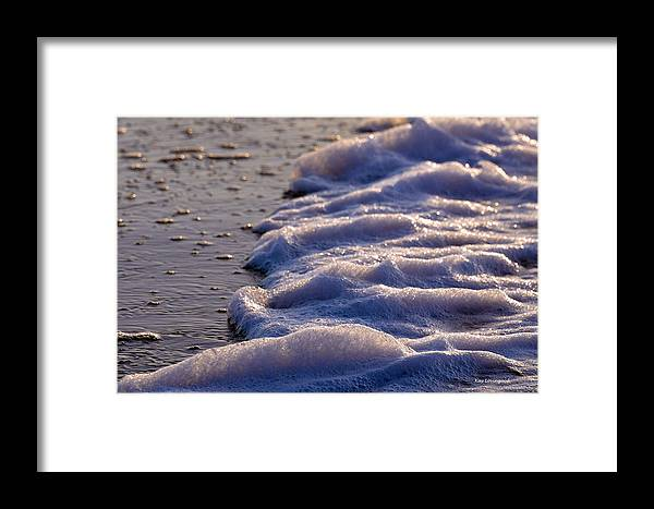 Sand Framed Print featuring the photograph Sea Foam by Kay Lovingood
