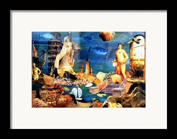 Fantasy Framed Print featuring the painting Sea Garden by Gail Kirtz