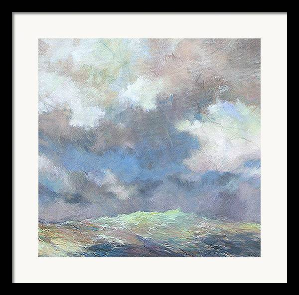 Seascape Framed Print featuring the painting Sea Glow by Marilyn Muller