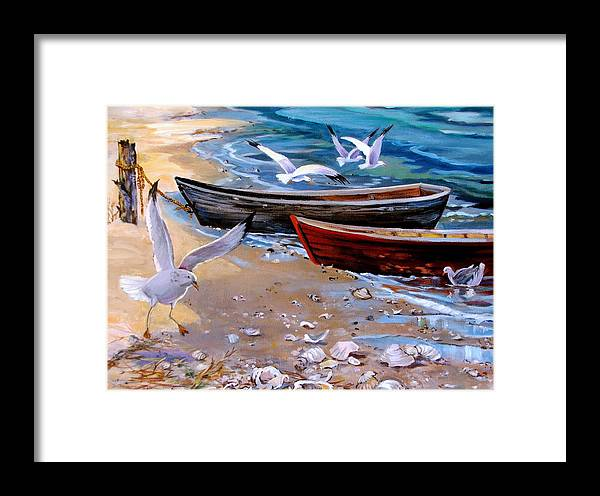 Sea Gulls Framed Print featuring the painting Sea Gull Cove by Dianna Willman