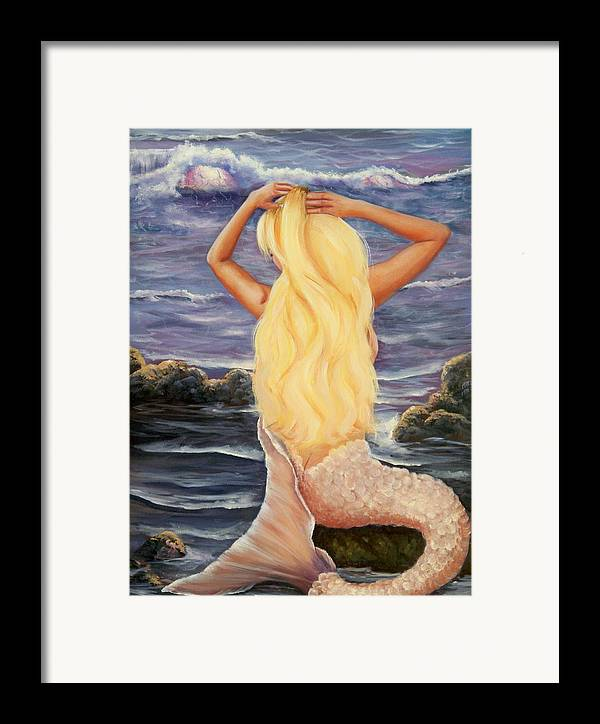 Mermaid Framed Print featuring the painting Sea Maiden by Joni McPherson