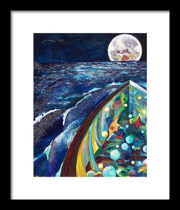 Sea Landscape Framed Print featuring the print SEA by Meltem Quinlan