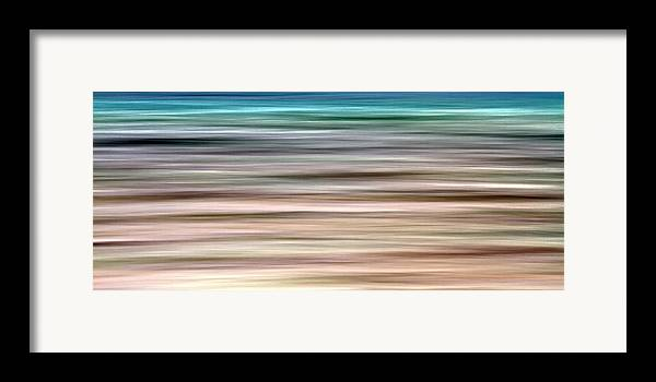 Abstract Framed Print featuring the photograph Sea Movement by Stelios Kleanthous