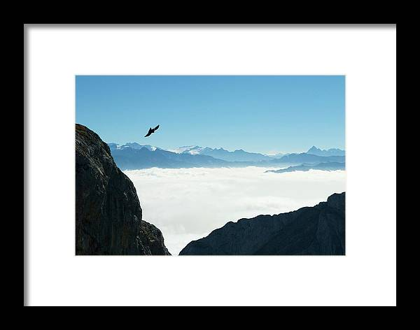 Landscape Framed Print featuring the photograph sea of clouds on Pilatus by Jirawat Cheepsumol