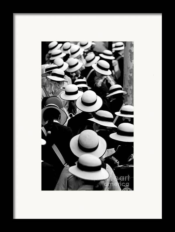Hats Schoolgirls Framed Print featuring the photograph Sea Of Hats by Sheila Smart Fine Art Photography