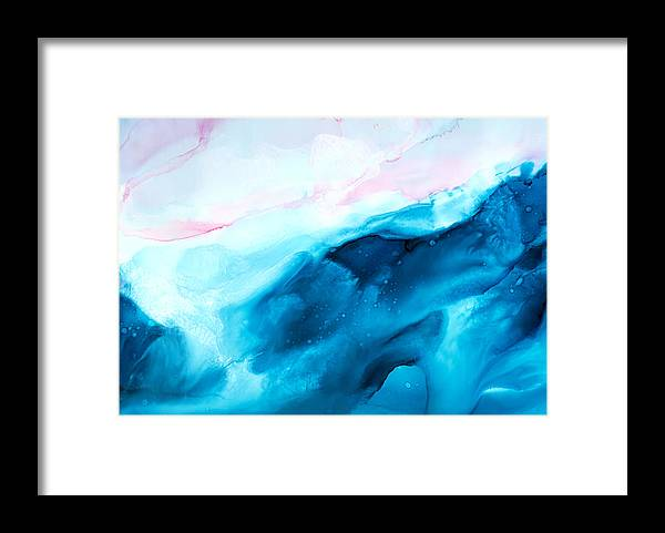 Abstract Framed Print featuring the painting Sea of Love - A by Sandy Sandy