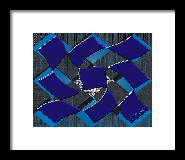 Squares Framed Print featuring the digital art Sea Ripples by Amanda Vouglas