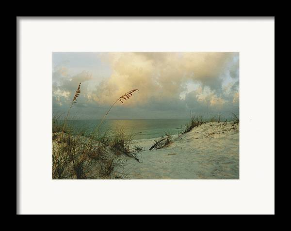 Ocean Framed Print featuring the photograph Sea Scape by Deborah Gallaway