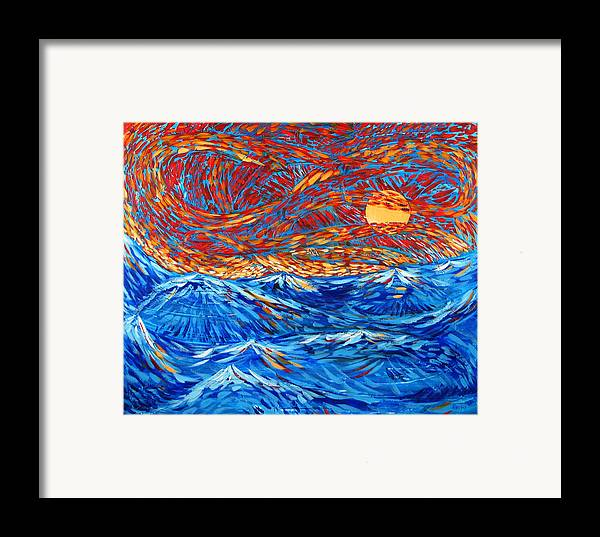 Seascape Framed Print featuring the painting Sea Scene by Rollin Kocsis