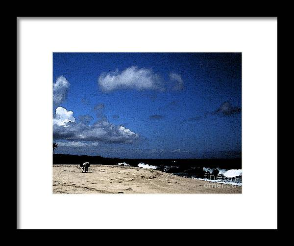 Pohaku Beach Framed Print featuring the photograph Sea Shells by James Temple