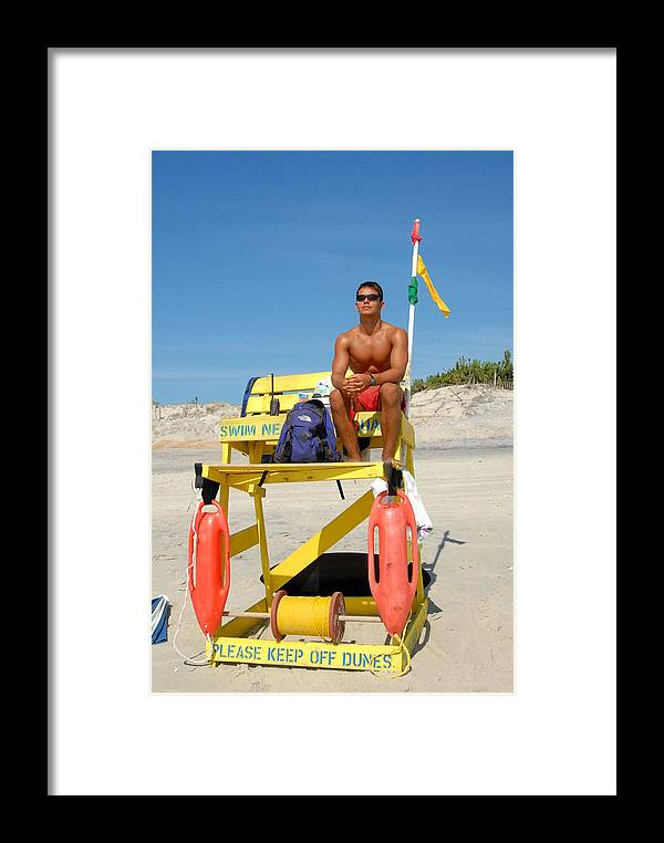 Summertime Fun Photos Framed Print featuring the photograph Sea Shore 4 by Joyce StJames