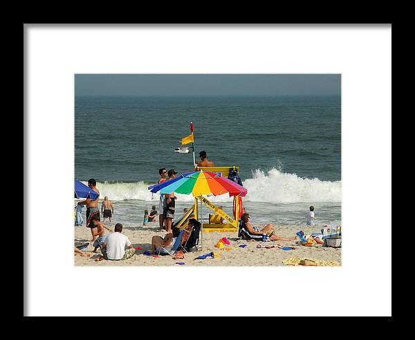 Summertime Fun Photos Framed Print featuring the photograph Sea Shore 5 by Joyce StJames
