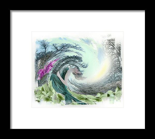 Young Girl Framed Print featuring the photograph Sea Storm by Rose Guay