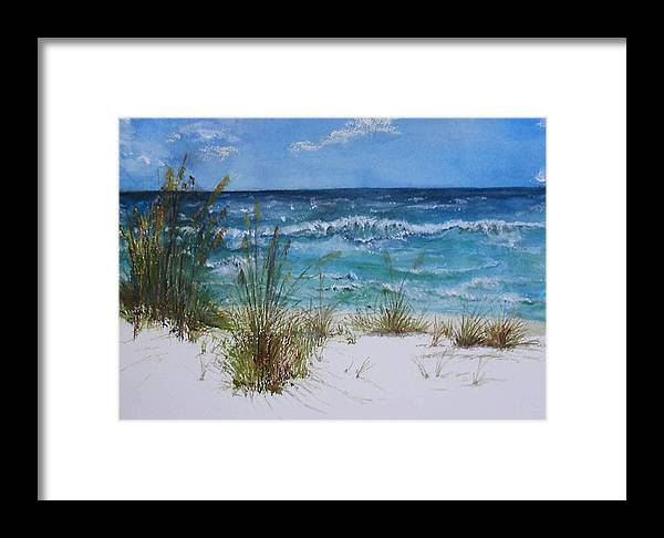 Sea Framed Print featuring the painting Sea Study 08 by Sibby S