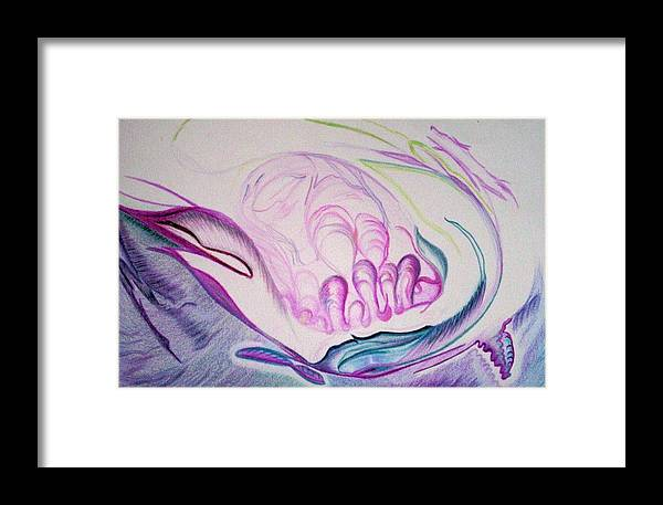 Abstract Painting Framed Print featuring the painting Sea by Suzanne Udell Levinger