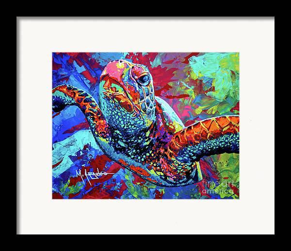 Sea Turtle Framed Print featuring the painting Sea Turtle by Maria Arango
