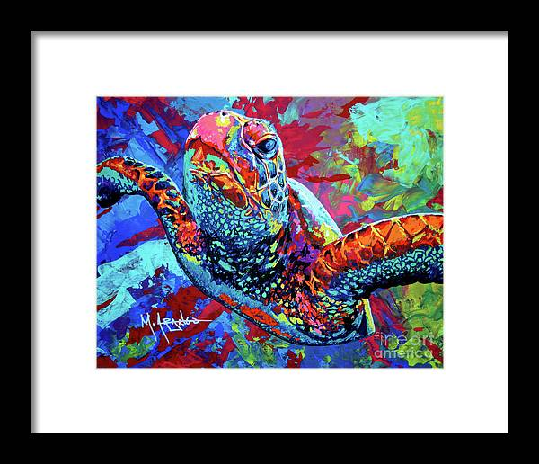 Sea Turtle Framed Print featuring the painting Sea Turtle by Maria Arango