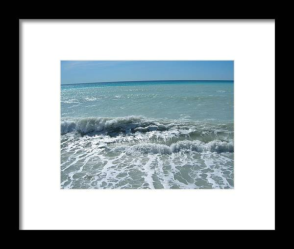 Sea Framed Print featuring the photograph Sea Waves In Italy by Tiziana Verso