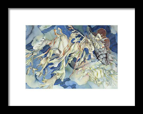 Sealife Framed Print featuring the painting Seadragon Fantasy by Liduine Bekman