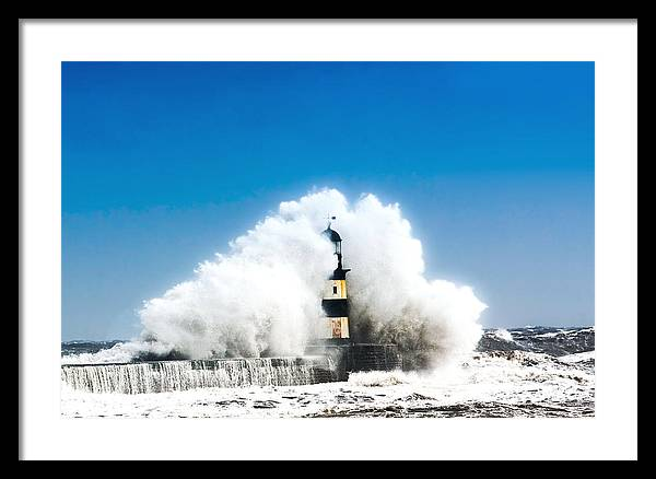 Landscape Framed Print featuring the photograph Seaham Storm by Thom Jones