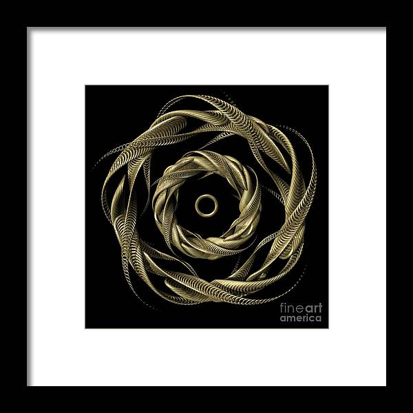 Insignia Framed Print featuring the digital art Seal by John Edwards