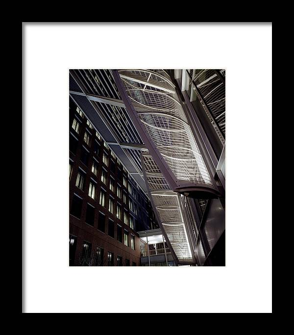 Architecture Framed Print featuring the photograph Seaport2 by Robert Ruscansky