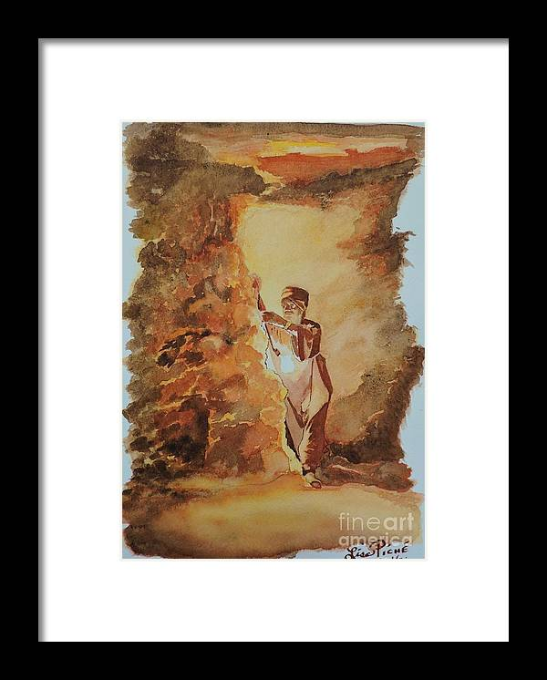 Searching For The Pharaoh's Framed Print featuring the painting Searching For The Pharaoh's by Lise PICHE