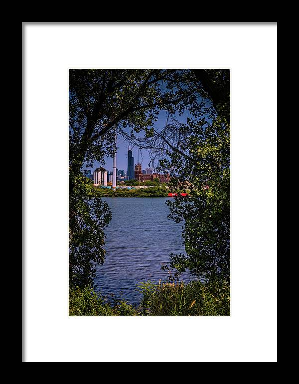 Framed Print featuring the photograph Sears From Canal Origins Park by Sue Conwell