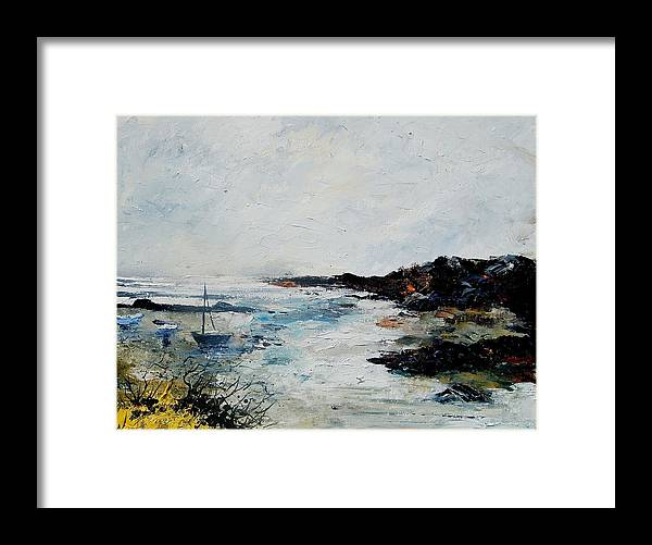 Sea Framed Print featuring the painting Seascape 68 by Pol Ledent
