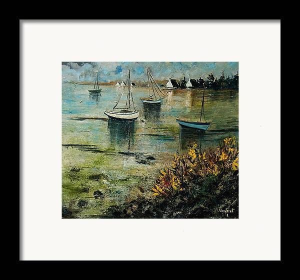 Seascape Framed Print featuring the print Seascape 78 by Pol Ledent