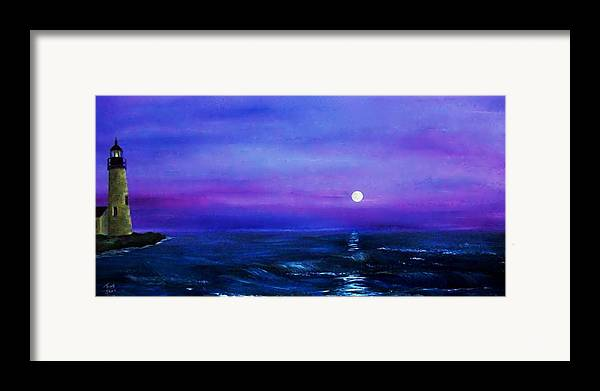 Seascape Framed Print featuring the painting Seascape II by Tony Rodriguez